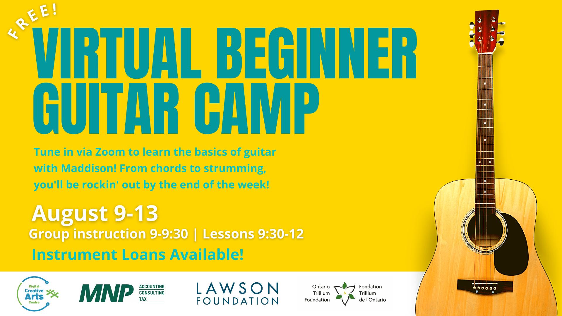 Virtual Beginner Guitar Camp